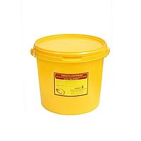 Емкость-контейнер для сбора отходов класс Б (желтый)