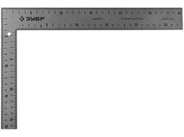Угольник плотницкий цельнометаллический Зубр (шаг 1мм, 300х200мм)