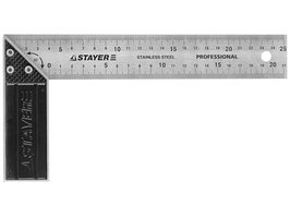 Угольник столярный, гравированная шкала Stayer(37мм, 300мм)