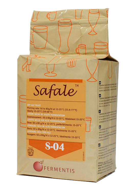 Дрожжи  пивные сухие Safale S - 04 (500 гр.) - верхового брожения