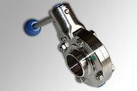 Дисковый клапан, ДИН 11850, SS (сварка/сварка), AISI 304 - DN50