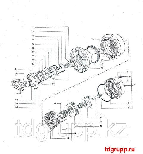 2401-9229 редуктор хода Doosan S500LC-V