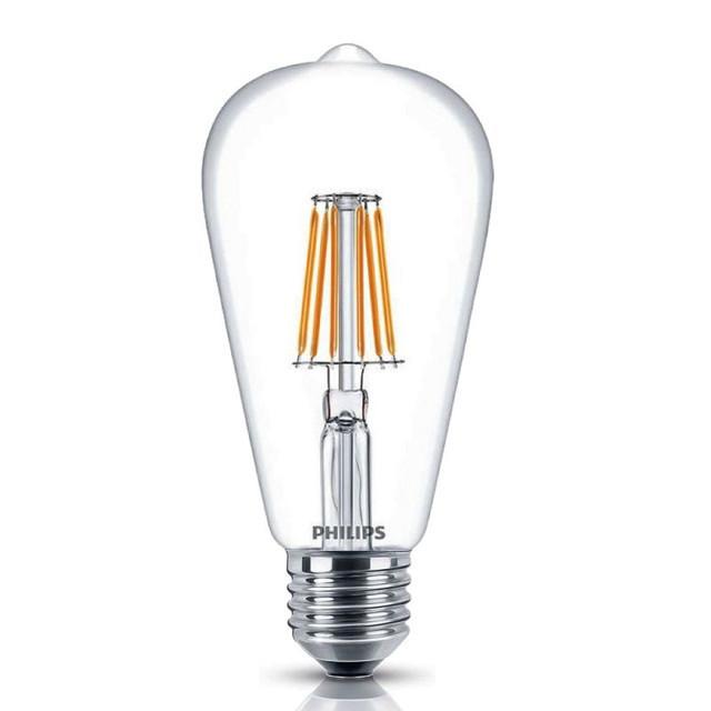 Филаментная LED лампа Philips Classic 6W 2700K