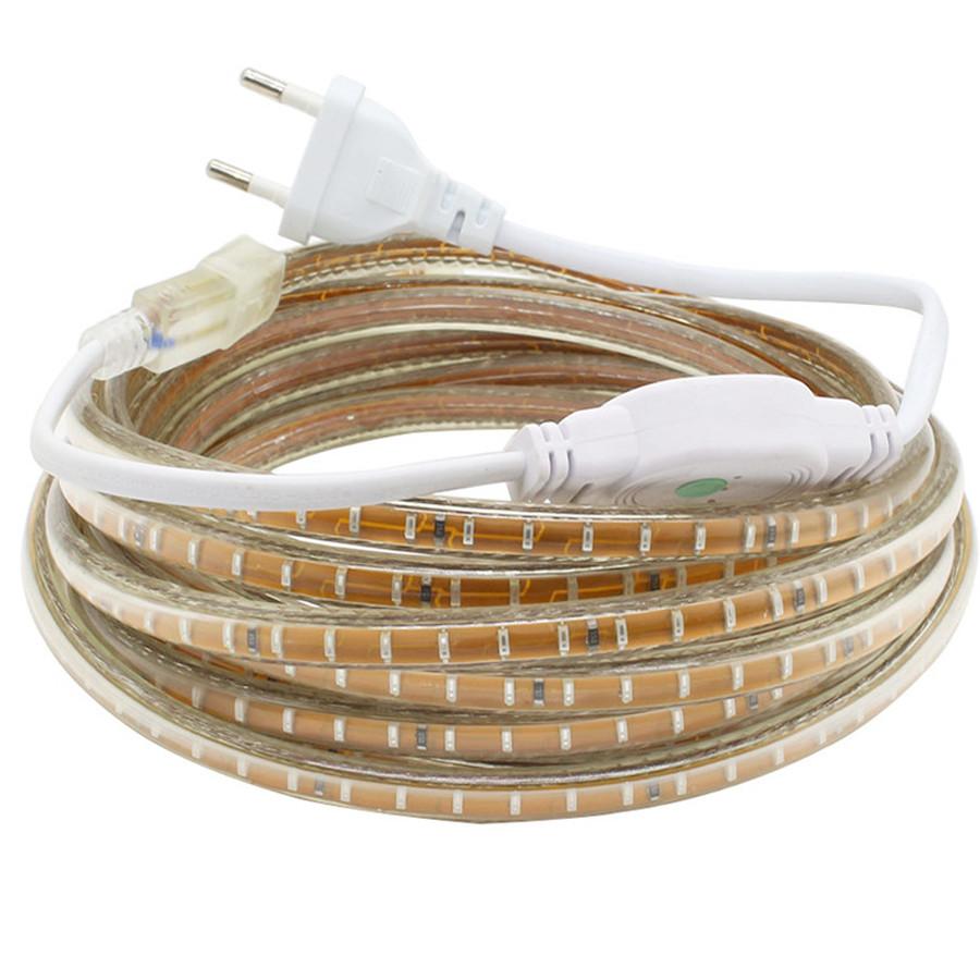 Светодиодная лента SMD 3014 Сверхяркая 220V 120д/м, IP67, Белый, Теплый