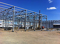 Строительство складов и заводов из металлоконструкций и сендвич-панелей под ключ