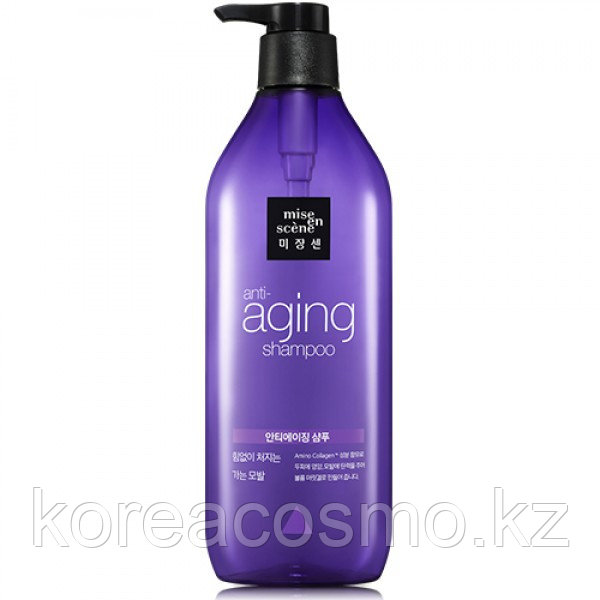 Антивозрастной шампунь - Mise en Scene Black Pearl Anti-aging Full and Thick Shampoo