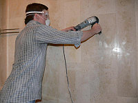 Шлифовка, полировка и кристаллизация стен из мрамора