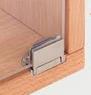 Петля для стекл.дверей Glarior от 6 мм, хромированная, полированная, с нажимной планкой