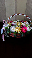 Корзина с розами малая