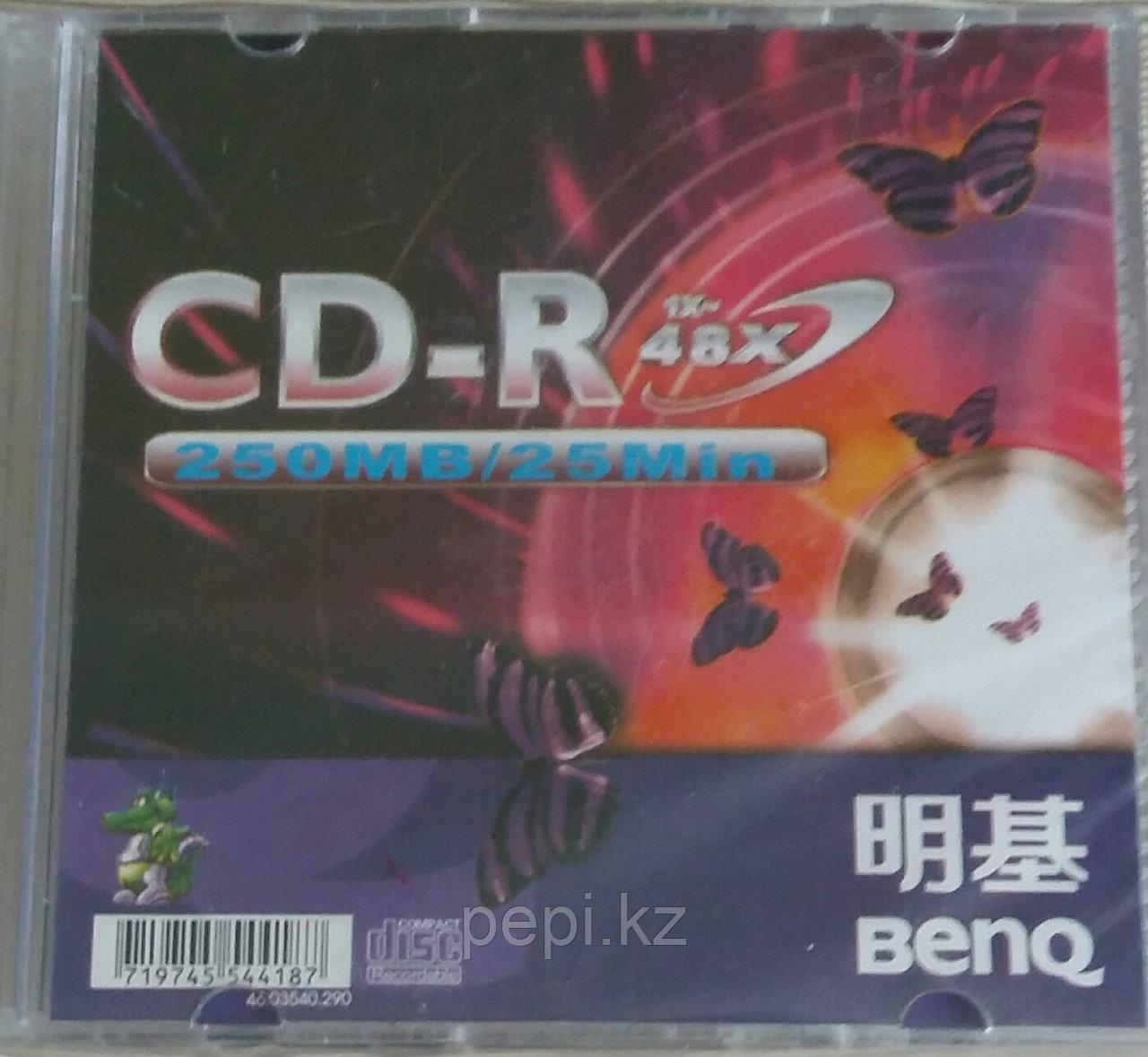 Диск CD-R мини Beng 200Mb/25мин/48х slim case