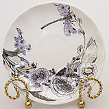 Чашка с блюдцем Шепот стрекозы, ручная роспись, ИФЗ, фото 2