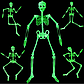 Светящийся (фосфорный) скелет большой для Хэллоуина, фото 3