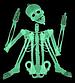 Светящийся (фосфорный) скелет большой для Хэллоуина, фото 2