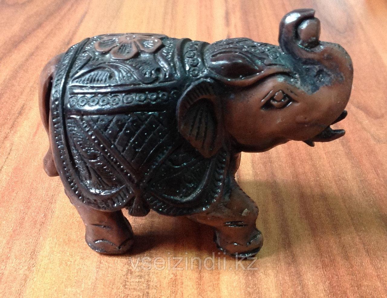 Статуэтка деревянный слон, темный