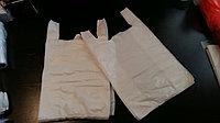 Пакет майка белая размер: 30(2х8,5)х50х13мкм