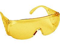 Очки DEXX защитные, поликарбонатная монолинза с боковой вентиляцией, желтые