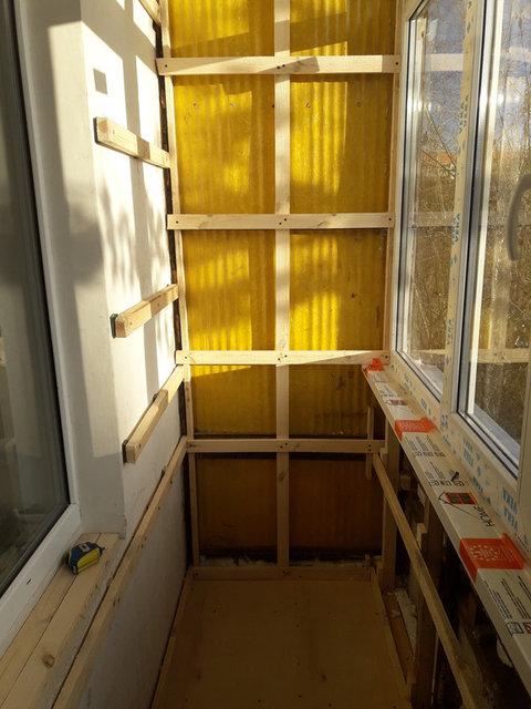 Обшивка и утепление балкона по адресу Шакарим Кудайбердыулы 38 3