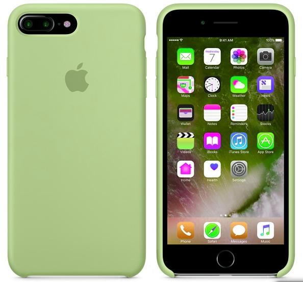 Силиконовый чехол для iPhone 7 Plus (зеленый)