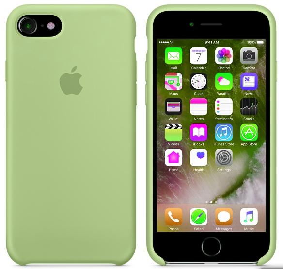 Cиликоновый чехол для iPhone 7 (зеленый)