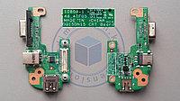 USB, VGA плата c разъемом питания DQ15DN15 CRT Board на DELL Inspiron N5110