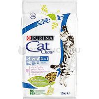 Cat Chow Feline 3 in 1, Кэт Чау корм для кошек с формулой тройного действия, уп. 15кг