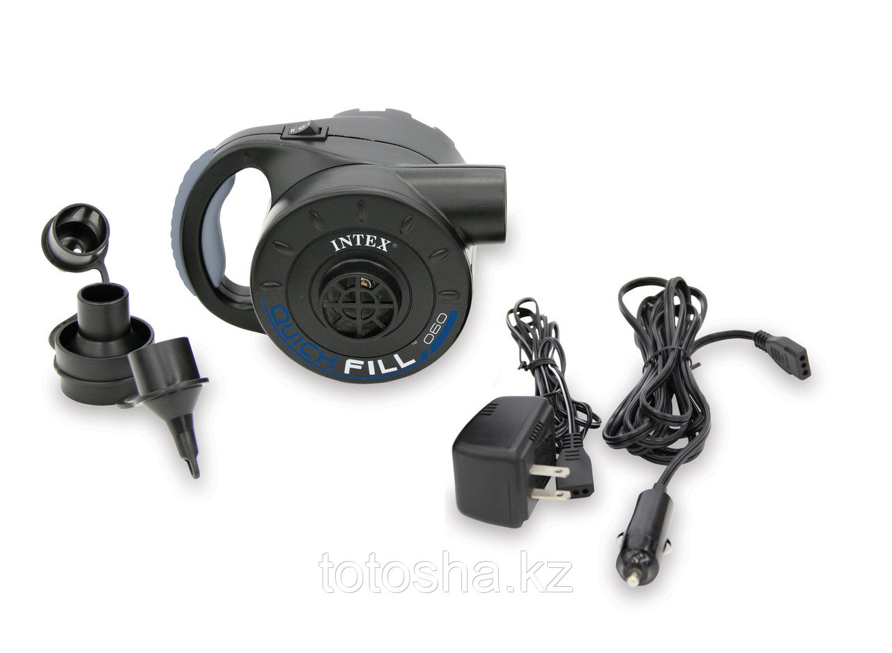 66622 Intex Аккумуляторный насос(от сети+от прикуривателя 12/220V (3 насадки)