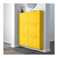 Галошница/шкаф ТРОНЭС 3 шт. желтый ИКЕА, IKEA, фото 1