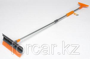 Щетка от снега и льда с водосгоном и телескопической ручкой (120 см.)