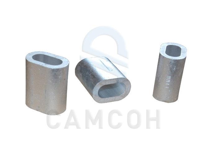 Втулка алюминиевые для обжимки канатных строп DIN 3093, типоразмер, мм 8