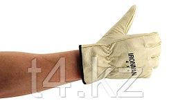 Перчатки рабочие кожаные- IRONMAN 4X4