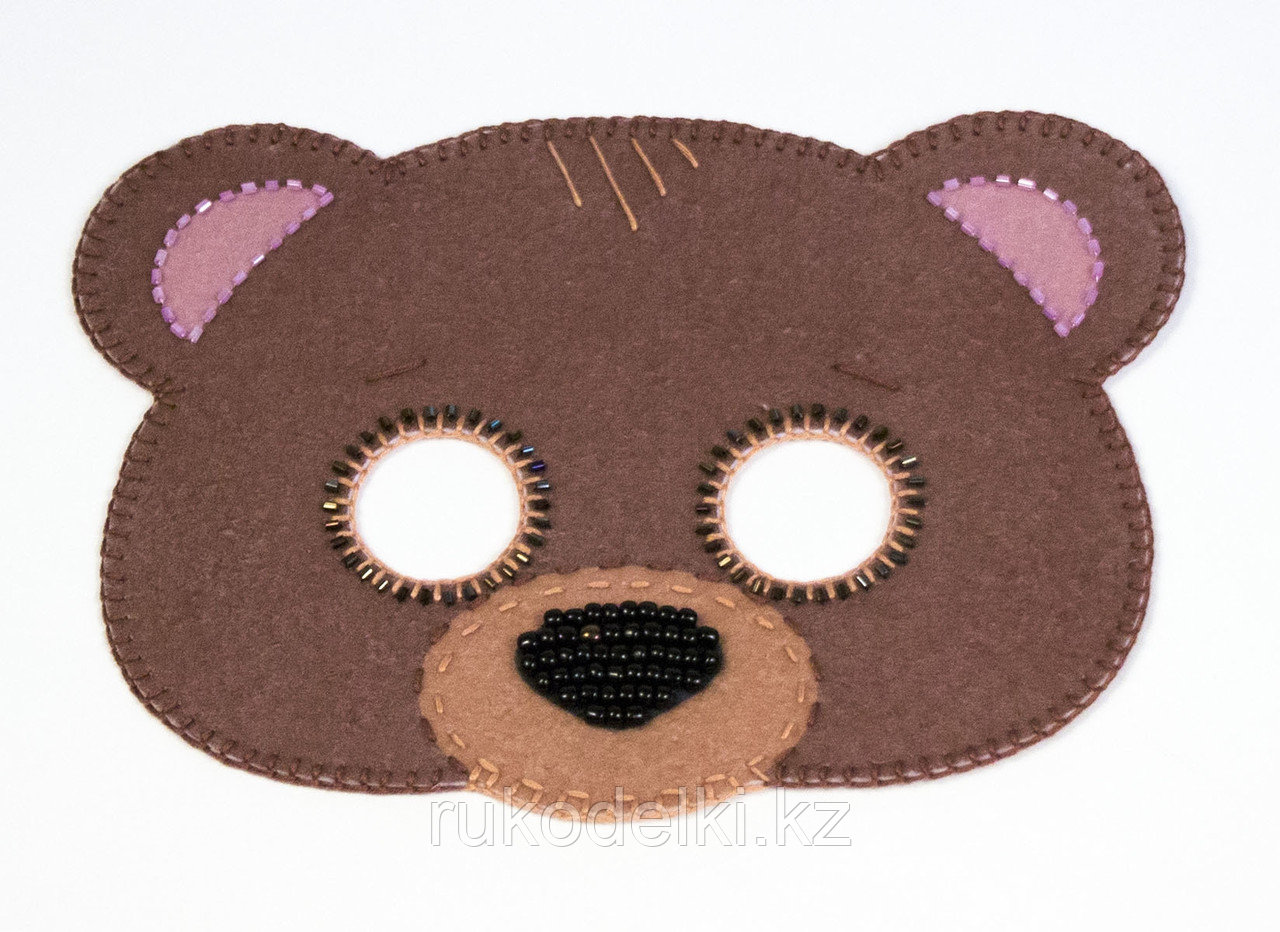 """Набор для рукоделия """"Карнавальная маска """"Медвежонок"""""""