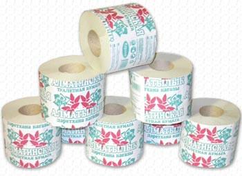 Рулонная туалетная бумага «Алматинская»