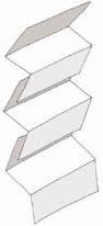 Туалетная бумага листовая Z-сложения «Эконом» для диспенсеров