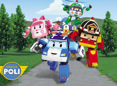 Герои мультика «Робокар Поли» (Robocar Poli)