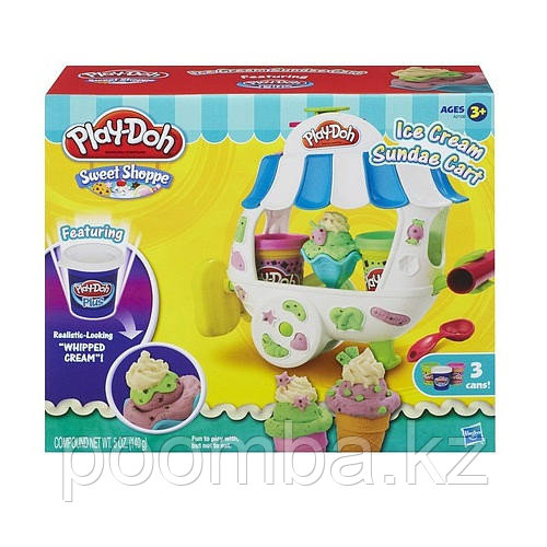 "Тележка с мороженным Play Doh ""Ice Cream Sundae Cart"""