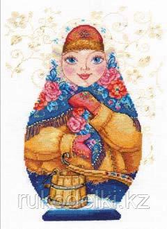 """Набор для вышивания крестом """"Матрешки. Зимняя краса"""""""