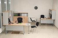 Стол письменный прямоугольный, 1200*700*750, Импакт/Берёза-Серый