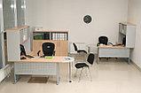 Стол письменный прямоугольный, 1400*700*750, Импакт/Берёза-Серый, фото 3