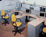 Стол письменный прямоугольный, 1400*700*750, Импакт/Берёза-Серый, фото 2