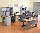 Стол письменный прямоугольный, 1400*700*750, Импакт/Берёза-Серый, фото 5