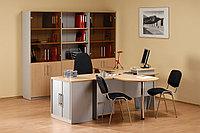 Стол письменный угловой правосторонний, 1400*900/700*750, Импакт/Берёза-Серый, фото 1