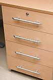 Стол письменный угловой правосторонний, 1400*900/700*750, Импакт/Берёза-Серый, фото 3