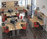 Стол письменный угловой правосторонний, 1400*900/700*750, Импакт/Берёза-Серый, фото 5