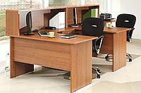 Стол письменный угловой правосторонний, 1400*900/700*750, Стиль/Орех, фото 1