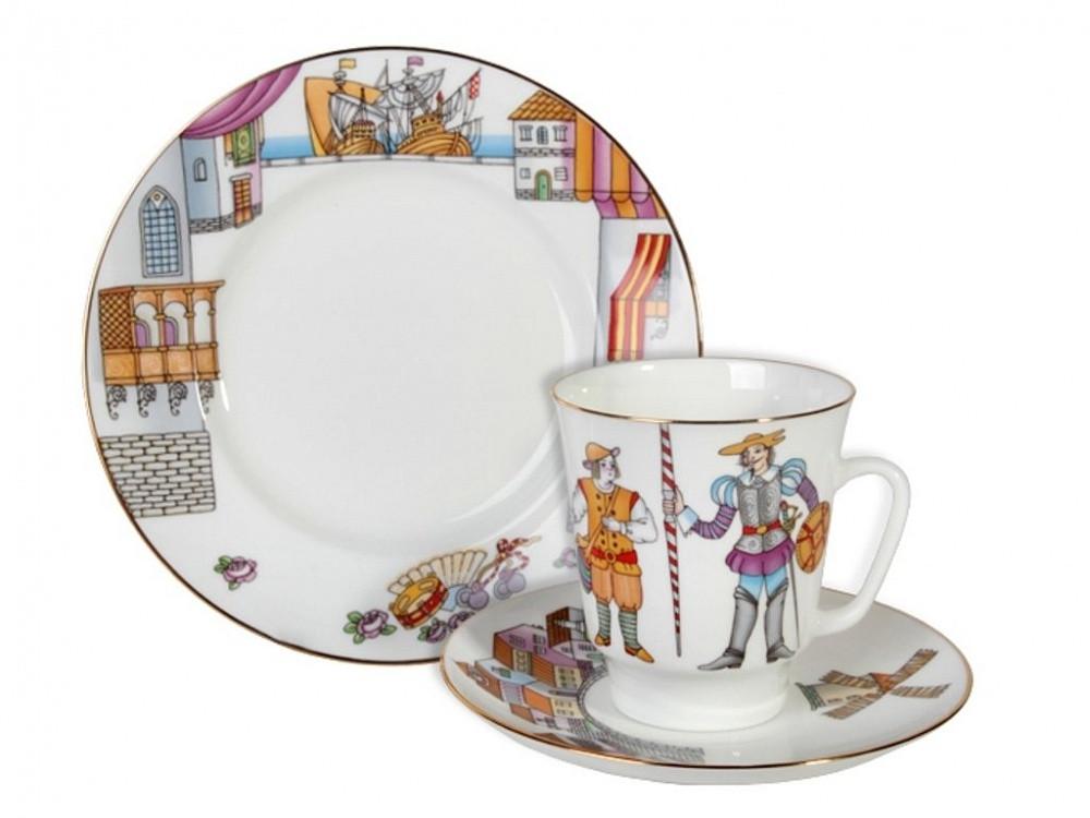 Кофейный комплект Балет Дон Кихот. ИФЗ. Костяной фарфор, авторская работа