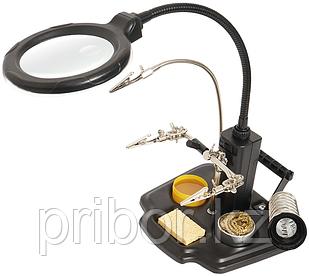 Держатель плат с лупой Pro`sKit SN-396