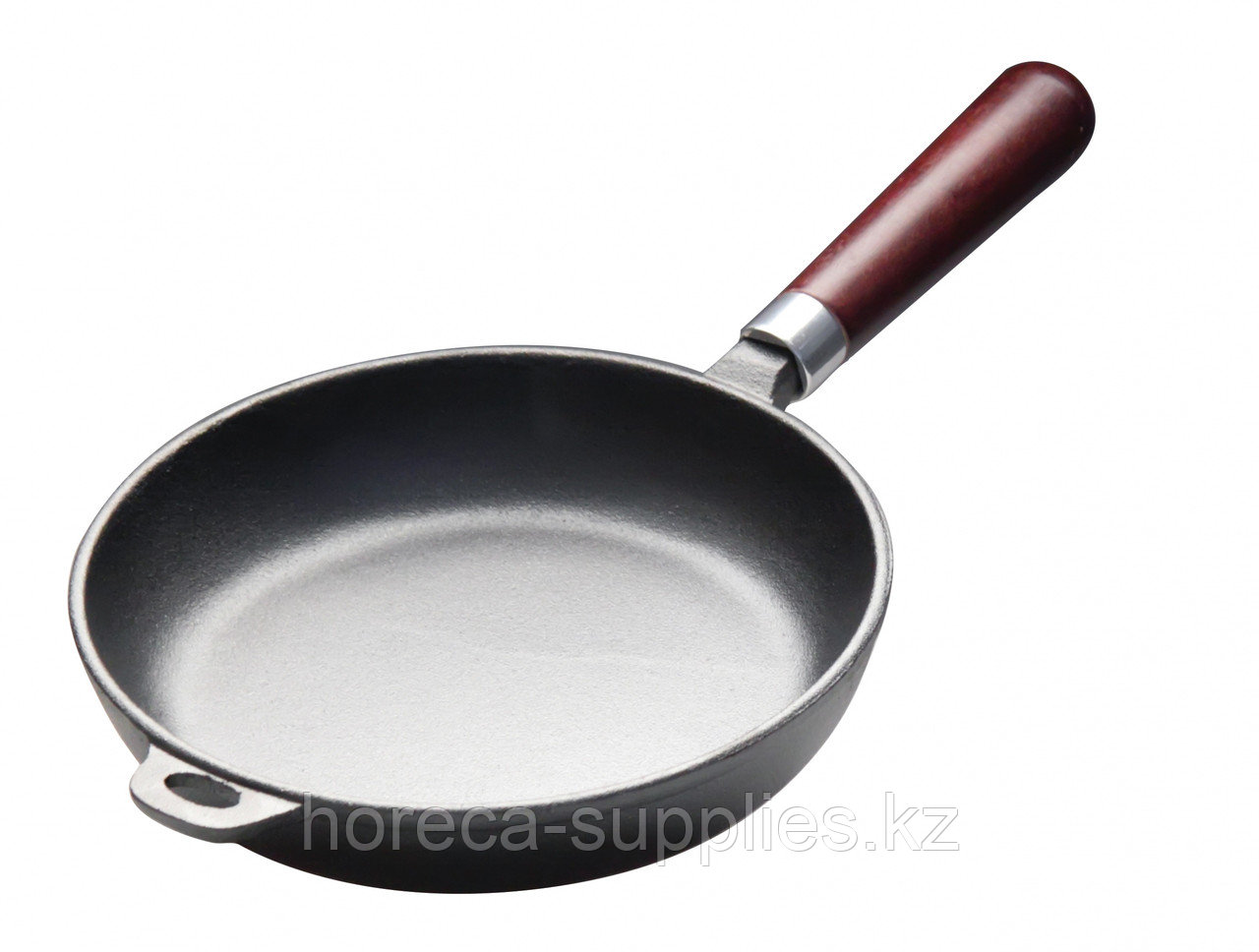 Сковорода чугунная 240 мм с деревянной ручкой Luxstahl [НЕR24]