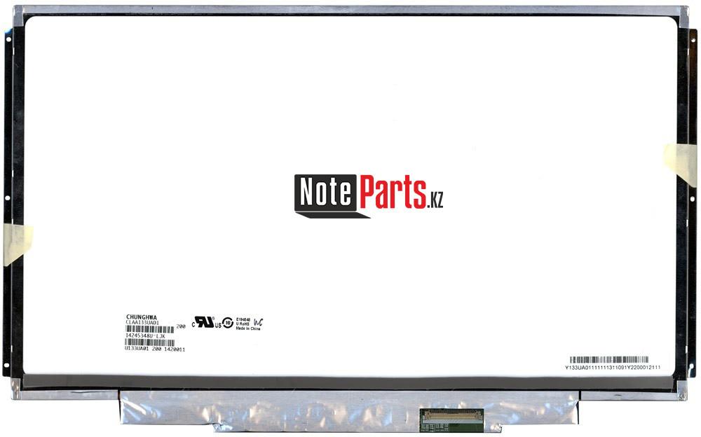 Дисплей для ноутбука CLAA133UA01 разрешение 1600*900 LED Слим 40пин крепление по бокам / пластина