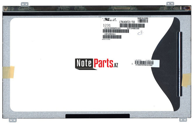 Дисплей для ноутбука LTN140AT21-T03  разрешение 1366*768 LED Слим 40пин крепление сверху-снизу, фото 2