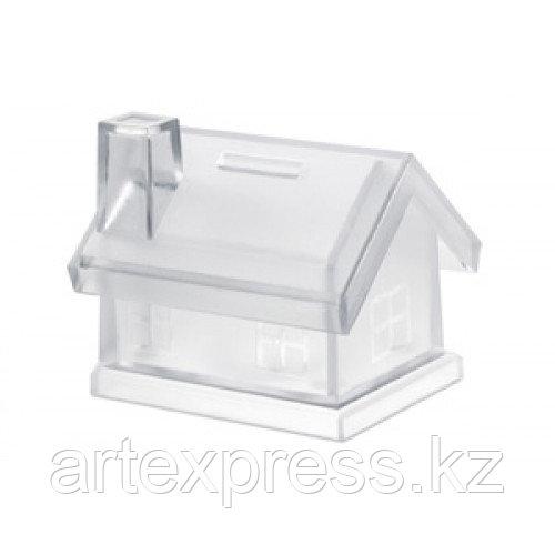 Пластиковая копилка-домик( Mybank прозрачный)